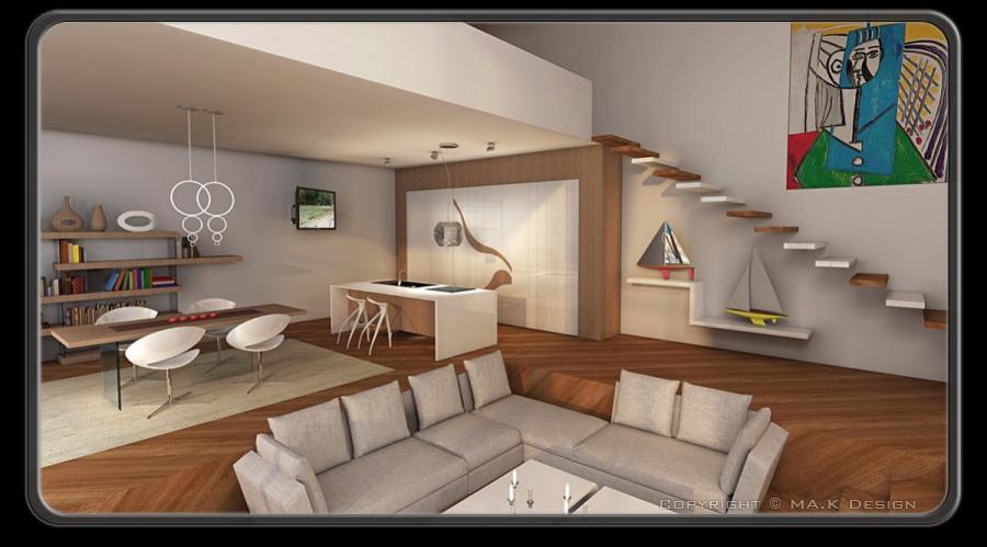 Ma k interior design progettazione d 39 interni for Casa moderna udine