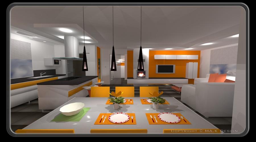 Proggetazione d 39 interni - Cucine soggiorno unico ambiente ...